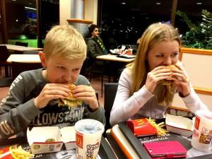 En Big Mac satt bra tyckte kidsen.