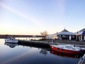 Underbar morgon i Grenå marina.