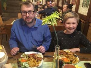 Alla var nöjda med maten.