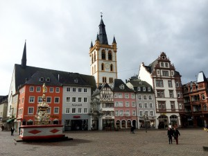Hauptmarkt i Trier.