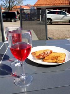 Toast och rosé!