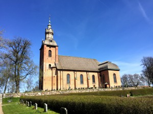 """I Landskyrkan är jag konfirmerad. Verner von Heidenstam kallade den för """"Landsbygdens Riddarholmskyrka""""."""