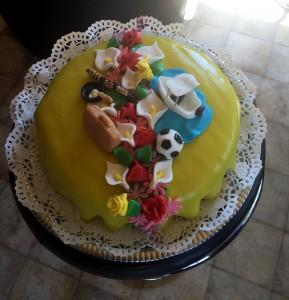 Så här blev tårtan.