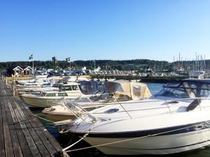 Fullt av båtar.
