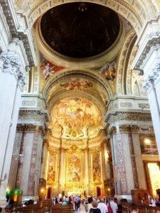 Kyrkan som ärhelgad åt Ignatius av Loyola.